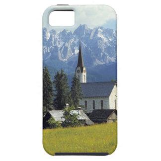 Europe, Austria, Gosau. The spire of the church iPhone 5 Covers