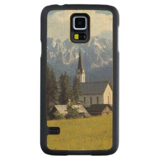 Europe, Austria, Gosau. The spire of the church Maple Galaxy S5 Slim Case
