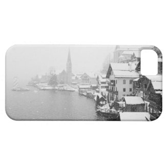 Europe, Austria, Hallstat. Town view in the snow iPhone 5 Cases