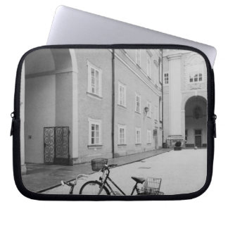 Europe, Austria, Salzburg. Bicycles in the Laptop Sleeve