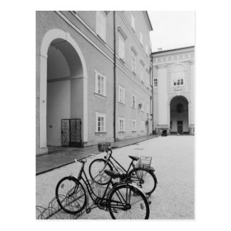 Europe, Austria, Salzburg. Bicycles in the Postcard