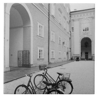 Europe, Austria, Salzburg. Bicycles in the Tile
