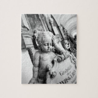 Europe, Austria, Salzburg. Cherub and monument 3 Jigsaw Puzzle