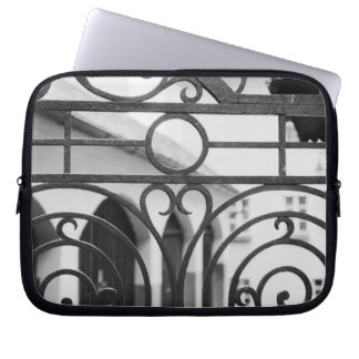 Europe, Austria, Salzburg. Detail of metal gate, Laptop Sleeve