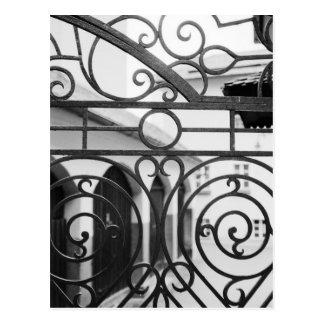 Europe, Austria, Salzburg. Detail of metal gate, Postcard