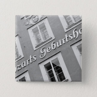 Europe, Austria, Salzburg. Mozart's Birthplace 15 Cm Square Badge