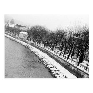 Europe, Austria, Salzburg. The bank of the River Postcard