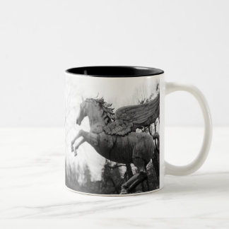 Europe, Austria, Salzburg. Winged horse statue, 2 Two-Tone Coffee Mug