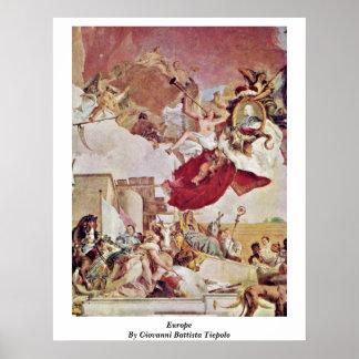 Europe By Giovanni Battista Tiepolo Posters