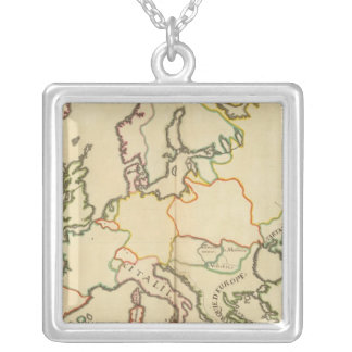 Europe by Religion 2 Silver Plated Necklace