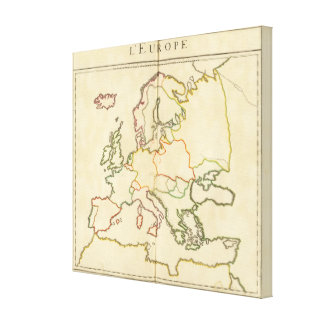 Europe by Religion 3 Canvas Print