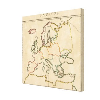 Europe by Religion Canvas Print