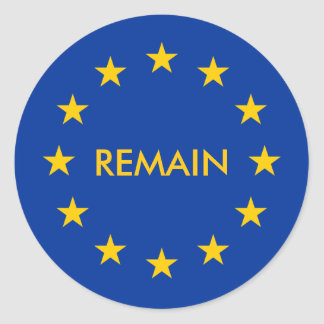 europe classic round sticker