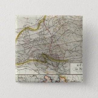Europe Climate Map 15 Cm Square Badge