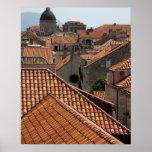 Europe, Croatia. Mediaeval walled city of 2 Print