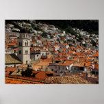 Europe, Croatia. Mediaeval walled city of Posters