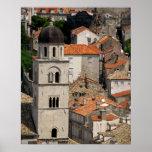 Europe, Croatia. Mediaeval walled city of Print
