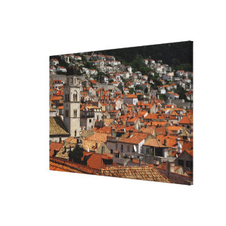 Europe, Croatia. Medieval walled city of Canvas Print
