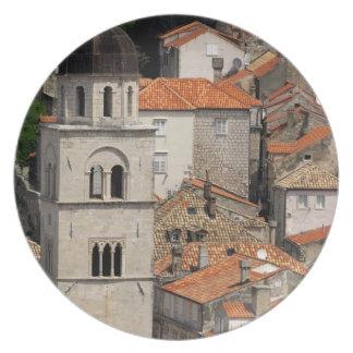 Europe, Croatia. Medieval walled city of Plate