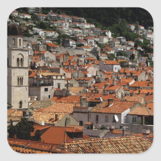 Europe, Croatia. Medieval walled city of Square Sticker