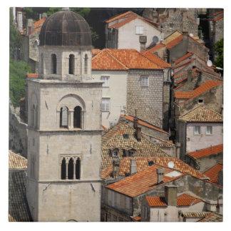 Europe, Croatia. Medieval walled city of Tile