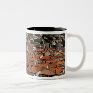 Europe, Croatia. Medieval walled city of Two-Tone Coffee Mug