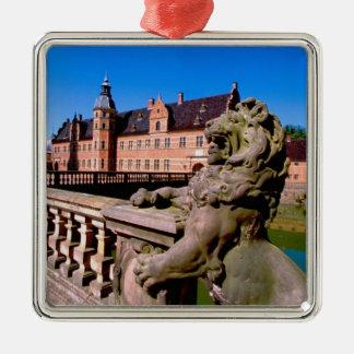 Europe, Denmark, Copenhagen aka Kobenhaven), Silver-Colored Square Decoration