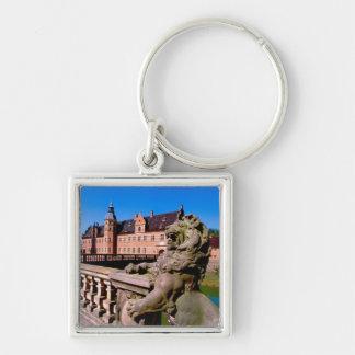 Europe, Denmark, Copenhagen aka Kobenhaven), Silver-Colored Square Key Ring