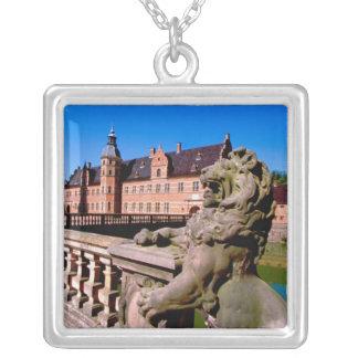 Europe, Denmark, Copenhagen aka Kobenhaven), Square Pendant Necklace