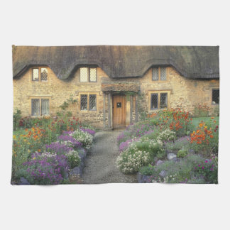 Europe, England, Chippenham. Early morning light Tea Towel