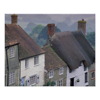 Europe, England, Dorset, Gold Hill, Shaftesbury. 2 Poster