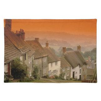 Europe, England, Dorset, Shaftesbury. Gold hill Placemat