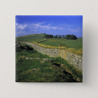 Europe, England, Hadrian's Wall. The stones of 15 Cm Square Badge