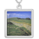 Europe, England, Hadrian's Wall. The stones of Square Pendant Necklace