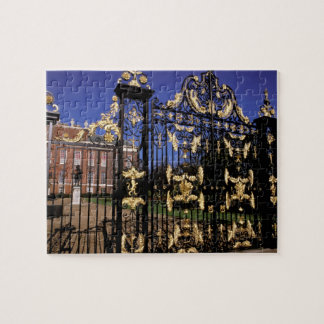 Europe, England, London. Gilded gate outside of 2 Puzzles