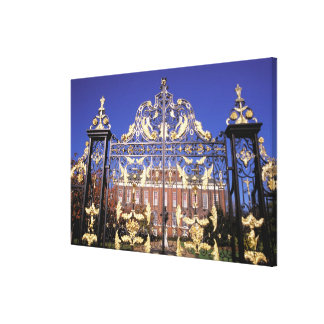 Europe, England, London. Gilded gate outside of Gallery Wrap Canvas