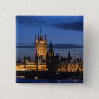 Europe, ENGLAND, London: Houses of Parliament / 15 Cm Square Badge