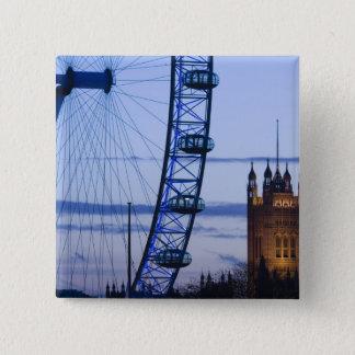 Europe, ENGLAND, London: Houses of Parliament 15 Cm Square Badge