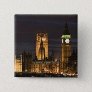 Europe, ENGLAND, London: Houses of Parliament / 2 15 Cm Square Badge