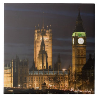 Europe, ENGLAND, London: Houses of Parliament / 2 Large Square Tile