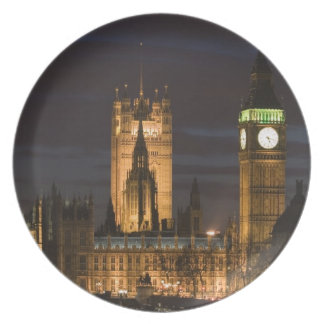 Europe, ENGLAND, London: Houses of Parliament / 2 Party Plates