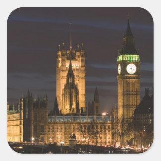 Europe, ENGLAND, London: Houses of Parliament / 2 Square Sticker