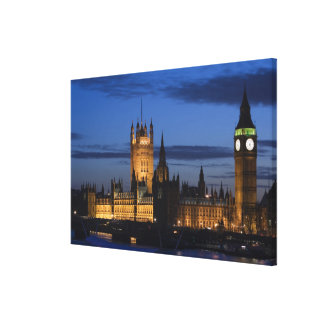 Europe, ENGLAND, London: Houses of Parliament / Canvas Print