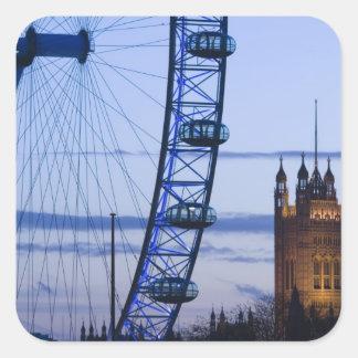 Europe, ENGLAND, London: Houses of Parliament Square Sticker
