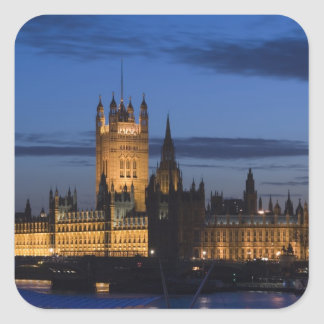 Europe, ENGLAND, London: Houses of Parliament / Square Sticker