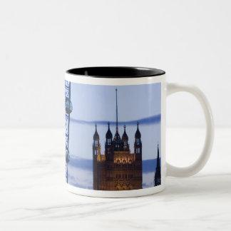 Europe, ENGLAND, London: Houses of Parliament Two-Tone Coffee Mug