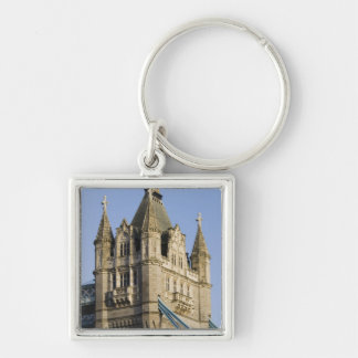 Europe ENGLAND, London: Tower Bridge / Late Silver-Colored Square Key Ring
