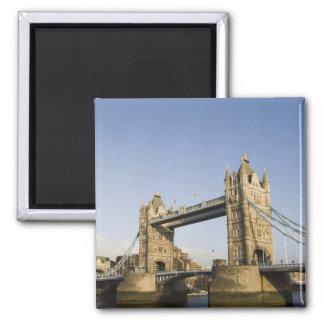 Europe,ENGLAND, London: Tower Bridge / Late Square Magnet