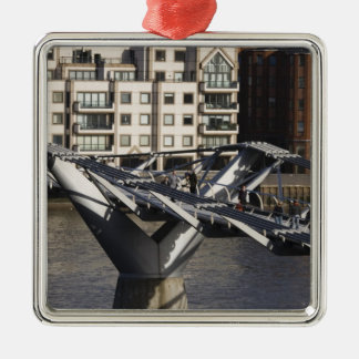 Europe,ENGLAND, London: View of the Millenium Silver-Colored Square Decoration