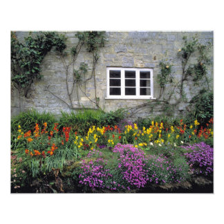 Europe, England, Teffont Magna. Flowers fill Photographic Print